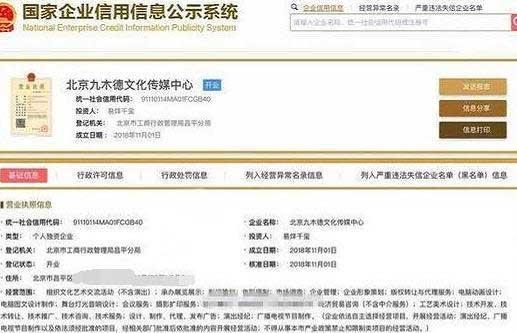 易烊千玺公司为什么叫九木德文化传媒中心呢?